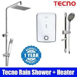 Tecno Shower Heater + Tecno Rain Shower