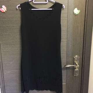 通花黑色連身裙