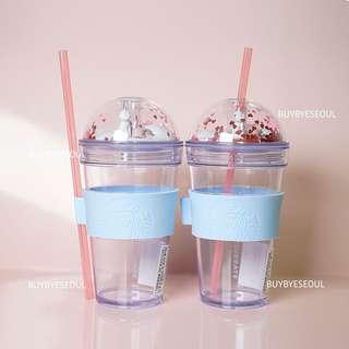 Starbucks korea V-day Cat Figure cold cup 473ml