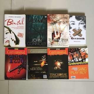Paket Novel Misteri (Bahasa Indonesia)(8 buku)