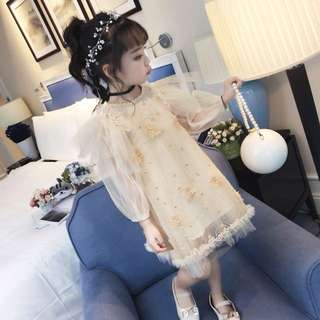 Korea style fashion baby girl dress