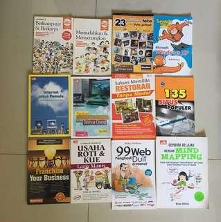 Paket Buku Komputer dan Bisnis (Bahasa Indonesia) (12 buku)