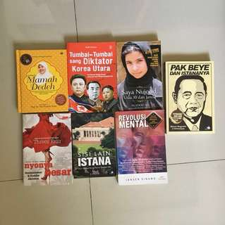 Paket Novel campuran (Bahasa Indonesia) (7 buah)