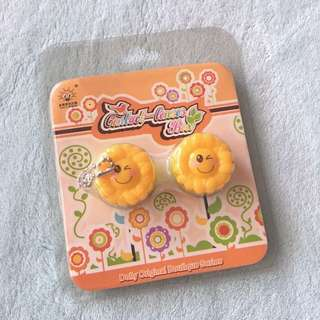Free Shipping !! Contact Lens Casing Sunflower 🌻 Keychain
