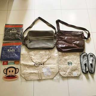 Nike Fred Perry GAP Beams Starbucks Paul Frank Abercrombie assortments poncho tote bags shoes