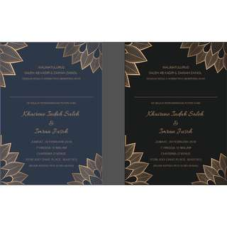 Wedding Invitation Card Design + Print
