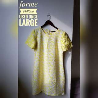 ForMe Yellow Floral Dress