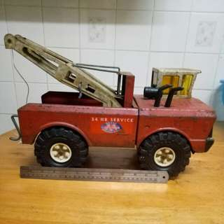Antique towing truck