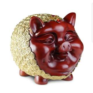 🎶Caremic piggy bank/display/ fengshui/gilf  toy