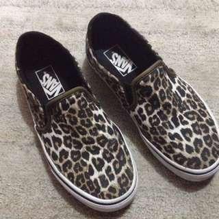 Vans Leopard Print Aunthentic Original Shoes Sneakers Slip Ons