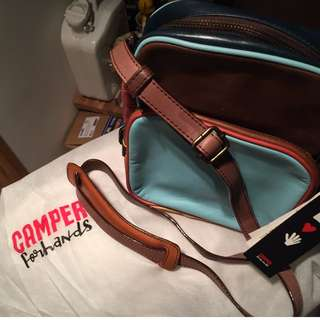 CAMPER SHOULDER BAG 100% NEW 100% LEATHER WITH DUST BAG - BOUGHT FROM JAPAN