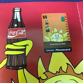 可口可樂限量版電話卡