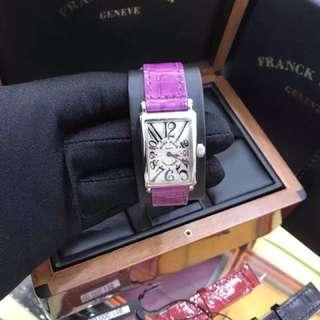 FM 鱷魚皮手錶