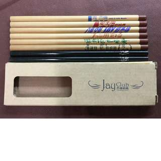 Jay Chou Pencil with Album Title 周杰伦带专辑标志铅笔
