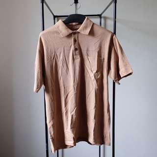 Brown Men Polo Shirt