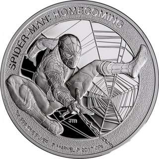 Marvel - 2017 Spider Man Homecoming 1 oz Silver Proof Coin