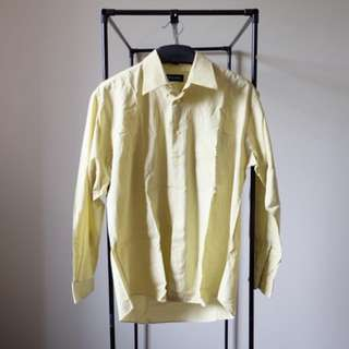 Light Green Long Sleeves Men Shirt