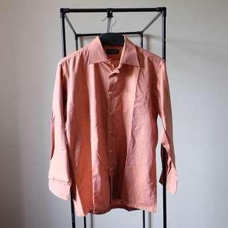Terracotta Brown Long Sleeves Men Shirt
