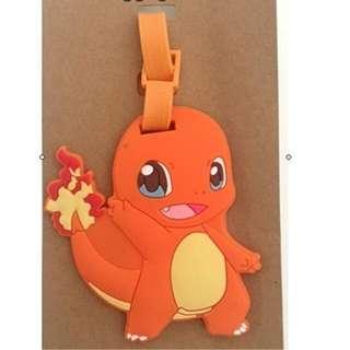 Pokemon charmander luggage tag