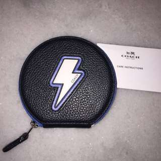 COACH NEW Authentic Dompet Koin Lighting Bolt