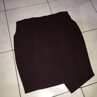 [PRELOVED] Red Skirt. PULLANDBEAR