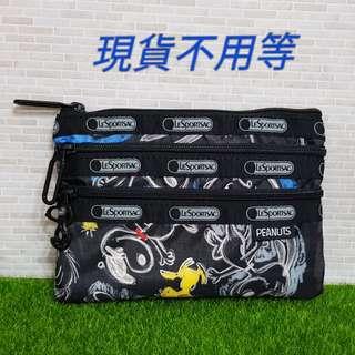 🚚 Lesportsac 史努比 三層化妝包(7158)
