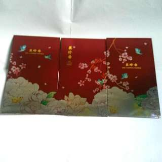 6 Pieces Of 2018 Bee Cheng Hiang Red Packets