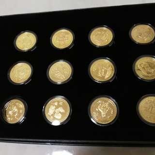 Zodiac Gold Coins