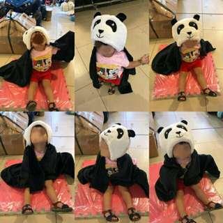 Hooded Baby Blanket Panda