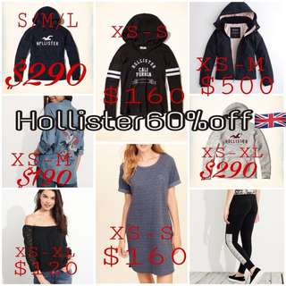 Hollister 60%off