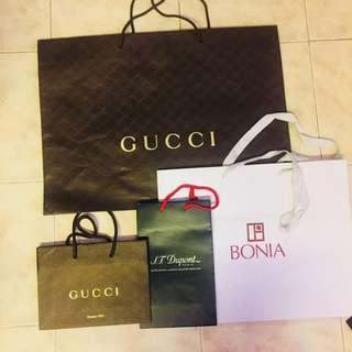 Gucci / Bonia / S.T Dupont Paris PaperBag
