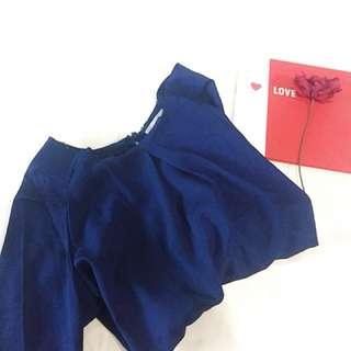 [Valentine's day] edition - Navy Blue Top + belakang brokat