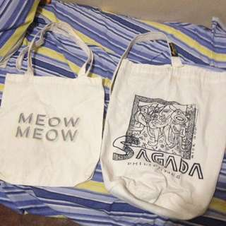 Canvas bags - just pay for shipping
