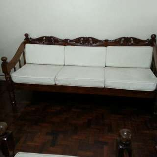 Antique Narra Sala Set, Been With Us For 20+ Years