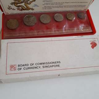 *Fast Deal* 1988 Singapore Uncirculated Coin Set Year Of Dragon