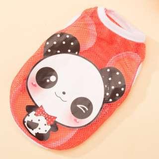 Orange Panda Mesh Sleeveless
