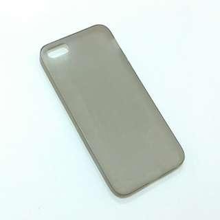Iphone 5 5se 磨沙灰軟膠手機殼 手機套 translucent plastic phone case