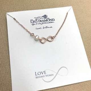 The Leo Diamond 鍍金珍珠手鏈