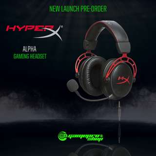 (Pre-Order) HyperX Cloud Alpha Pro Gaming Headset for PC, PS4 & Xbox One, Nintendo Switch (HX-HSCA-RD/AS)