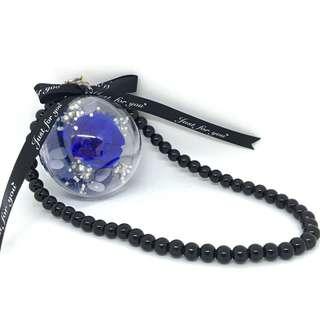 Preserved Rose c/w Chain (Blue)
