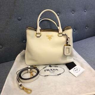 💥減💥情人節優惠💖Prada leather bag 白色氣質女神袋