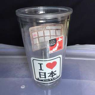 Customisable 2 layer plastic tumbler/cup