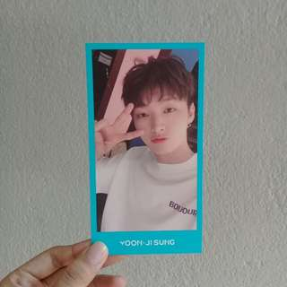 WANNA ONE JISUNG OFFICIAL PHOTOCARD