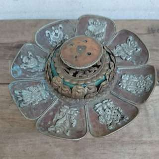 Vintage Tibetan Copper Incense Holder