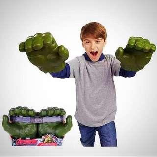 Big sized Marvel Superheroes Avengers Incredible Hulk Rubber Glove Hand - One Pair