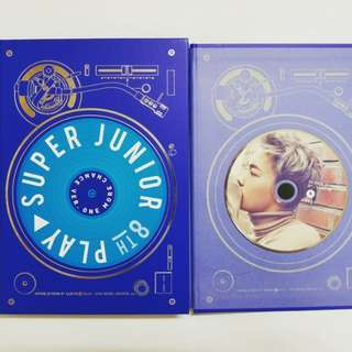 Super Junior 8th Album - PLAY One More Chance Version with photocard