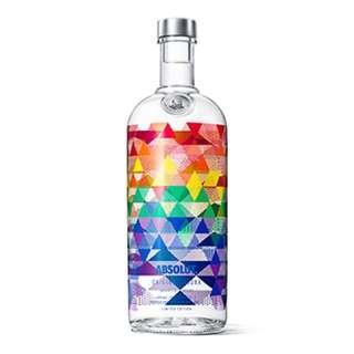 Absolut vodka rainbow bottle