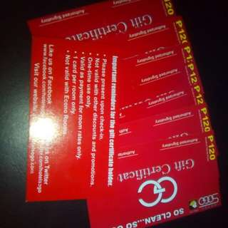 SOGO Gift Certificate Buy all for 500 8pieces
