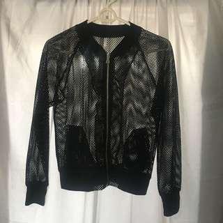 See through net jacket