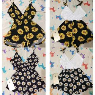 Sunflower and Daisy Romper